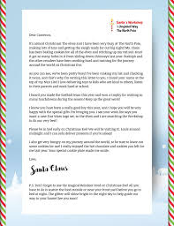 santa writing paper order a real letter from santa from mail from santa your custom letter from santa includes
