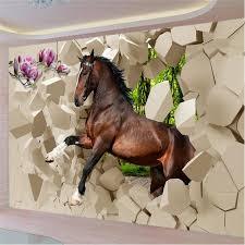 papier peint chevaux pour chambre beibehang papier peint pour les murs 3 d stéréoscopique chevaux au