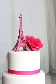 Eiffel Tower Decoration 6 Pink Paris Eiffel Tower Cake Topper Madeline France