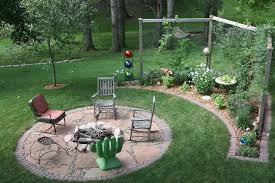 Rustic Firepit Pit Inspiring Pit Landscape Ideas Garden Pit