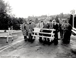 burlingame bridge circa 1948 vintage portland