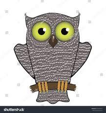 cartoon owl isolated on white background stock illustration