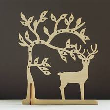 earring necklace organizer images Laser cut wood deer jewelry storage tree earring holder jewellery jpg