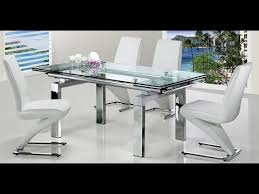 Glass Extendable Dining Table And 6 Chairs Extendable Glass Dining Table With 6 Chairs
