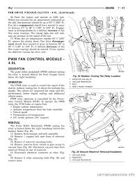 engine coolant jeep grand cherokee 2003 wj 2 g workshop manual