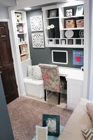 how to create a small space office in a closet or a blank wall