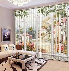 chambre en 3d moderne rideaux pour salon peinture blackout 3d rideaux pour salon