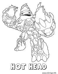 Coloriage Skylanders Giants Fire Hot Head dessin