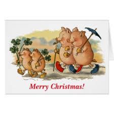 funny pig christmas cards invitations greeting u0026 photo cards