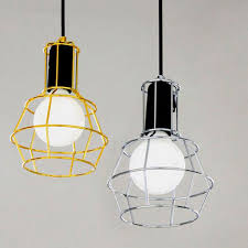 wire light bulb cage art deco vintage industrial metal wire cage pendant light guard