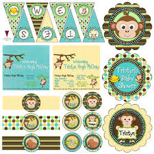 monkey boy baby shower decorations baby shower decorations boy monkey baby shower diy