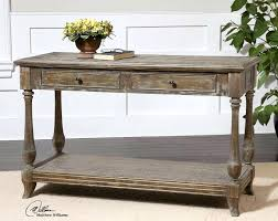 wood and metal console table with drawers distressed console table with drawers goss2014 com