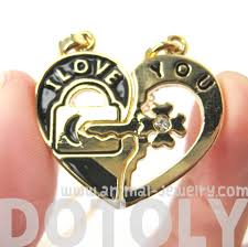 lock pendant necklace images Couples 2 piece heart shaped quot i love you quot lock and key pendant JPG