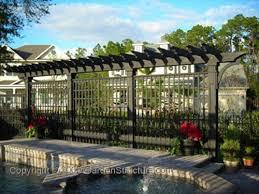 Pool Pergola Designs by Stunning Grey Pergola Surrounding A Pool In Tampa Florida