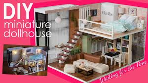 diy miniature dollhouse full set bedroom kitchen living room