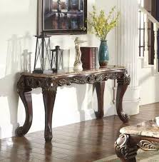 Marble Top Sofa Table by Old World Marble Top Sofa Table With Ornate Ebony Fame