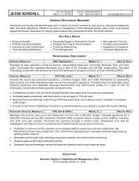 Sample Resume Restaurant Manager by Sample Resume Of General Manager Sales Templates