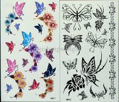 temporary tattoos butterfly stencils for waterproof
