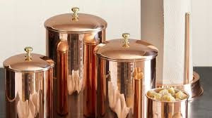 copper canisters kitchen smart ideas for kitchen storage sunset