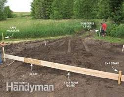 How To Build A Easy Shed by Concrete Forms And Pouring A Concrete Slab Family Handyman