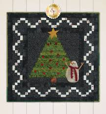 tree trimming party quilt kit includes wool