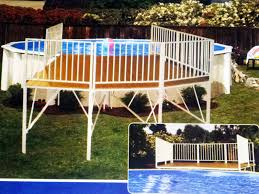 outdoor how to build a deck for above ground swimming pool