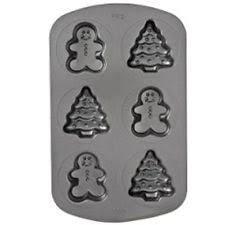 wilton mini cake pan non stick 6 cavities christman trees and