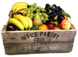 delivered fruit milk delivery office pantry