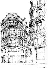 paris street coloring pages printable