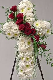 flowers for funeral service floral cross for funeral service sympathy flowers from babylon