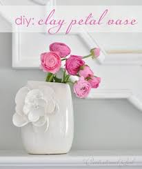 Flower Vase Crafts Diy Project Clay Flower Petal Vase Make Your Own Clay Flower Vase