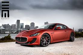 maserati granturismo 2016 red maserati granturismo mc stradale kicks back on custom wheels w video