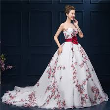 aliexpress com buy floral printed ball gown prom dress 2016