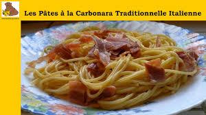 cuisine tv recettes italiennes les pâtes à la carbonara traditionnelle italienne recette rapide et