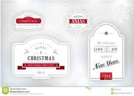 elegant christmas labels emblems stock vector image 35274724