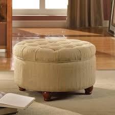 alcott hill nussbaum round button upholstered storage ottoman
