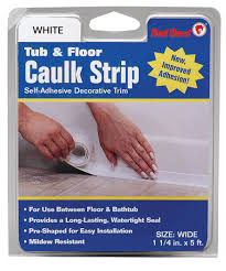 amazon com red devil 0151 wide white tub u0026 wall caulk strip 1 5 8