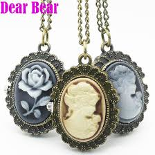 ladies pocket watch necklace images 4003 vintage lady cameo pocket watch necklace pendant pocket watch jpg
