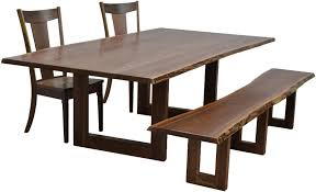 Living Edge Dining Table Amish Kalispel Live Edge Dining Table