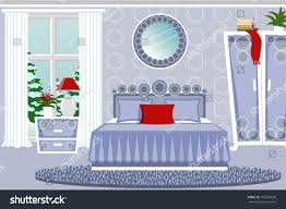 interior bedroom cozy room furniture winter stock vector 705230020 the interior of the bedroom cozy room with furniture winter landscape outside the window