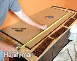 Installing A Vanity Top How To Install A Glass Tile Vanity Top Family Handyman