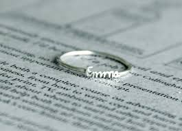 silver name rings heart on my finger handwriting name ring review adorkable duo