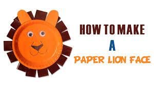 how to make paper lion face learn art and craft diy decorated