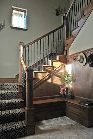 vancouver wrought iron railing staircase victorian with wood