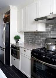 Kitchen Cabinets White Shaker Smoke Gray Glass Subway Tile White Shaker Cabinets Pull Down