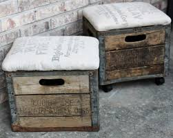 Diy Storage Ottoman Ottomans Diy Storage Footstool Storage Ottoman Cube Pallet