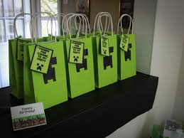 minecraft goody bags the of a minecraft birthday party sincerely shantelle