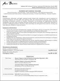 New Teacher Resume Template 100 Resume For New Teacher Post Resume For Free Resume Template