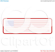 Faded American Flag Royalty Free Rf Clipart Illustration Of A Faded Long American