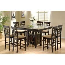 west caraway 9 piece dining set square dining tables storage